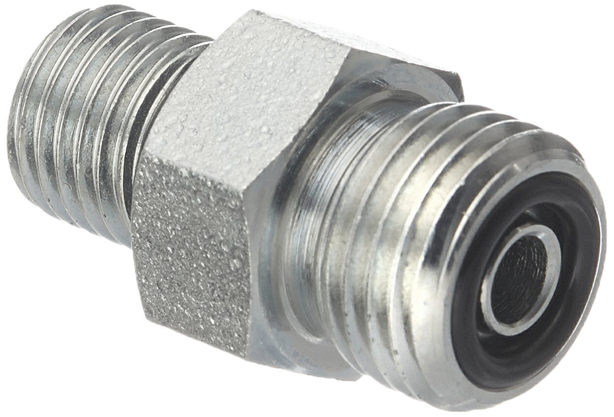 Brennan Industries FS6400-04-04-O Steel Straight O-Ring Face Seal Fitting, 9/16