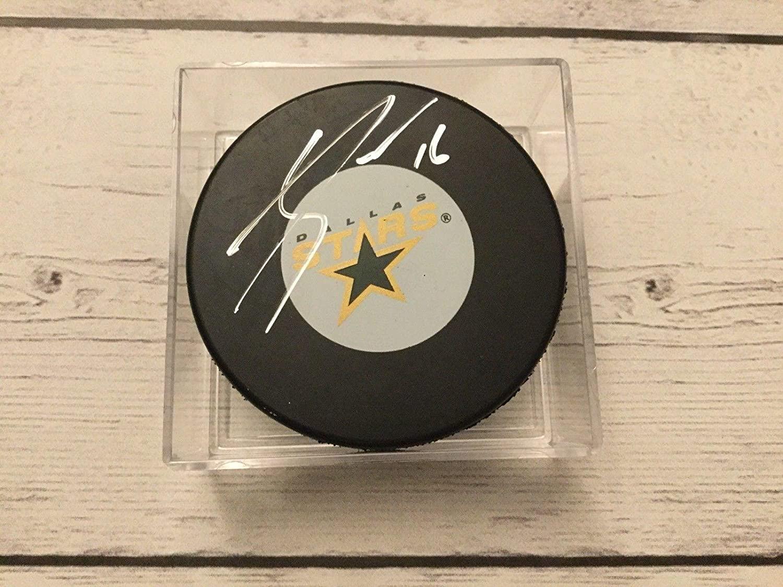 Autographed Jason Dickinson Hockey Puck - b - Autographed NHL Pucks
