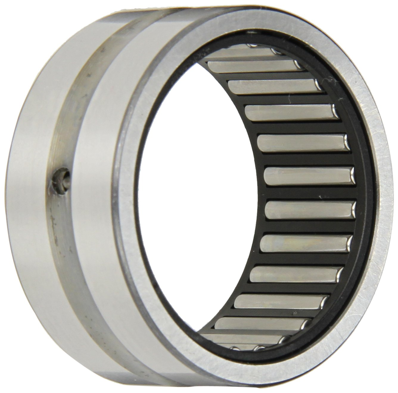 INA NK35/20 Needle Roller Bearing, Outer Ring and Roller, Steel Cage, Open End, Oil Hole, Metric, 35mm ID, 45mm OD, 20mm Width, 12000rpm Maximum Rotational Speed
