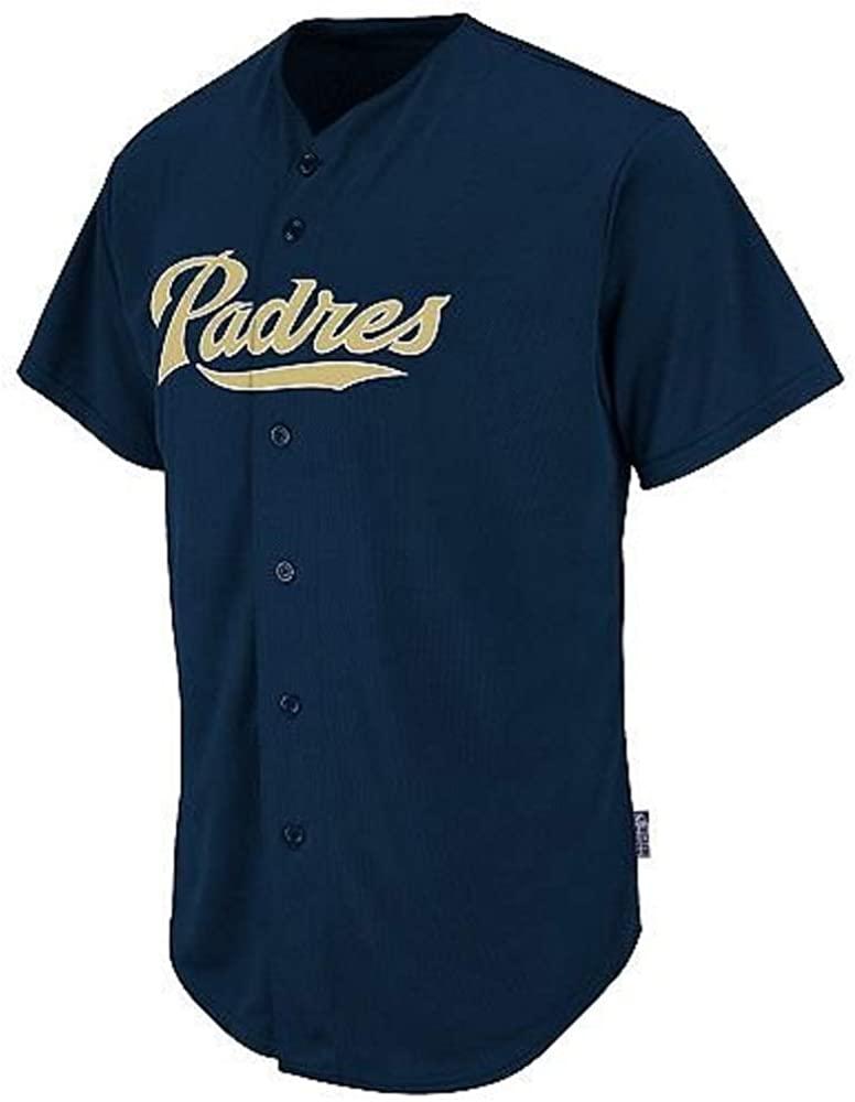 Youth Medium San Diego Padres Blank Back Major League Baseball Cool-Base Replica MLB Jersey Navy Blue