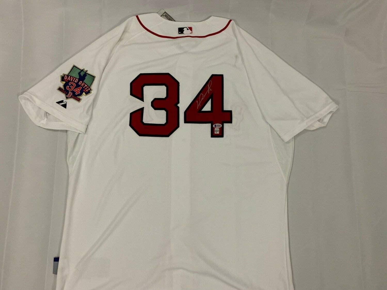 David Ortiz Autographed Signed Boston Home Jersey Red Sox Beckett Beckett COA