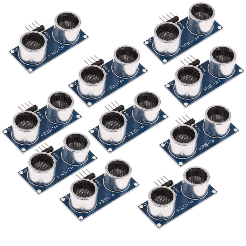 dailymall 10 Pieces HC SR04 P 5V DC Distance Measuring