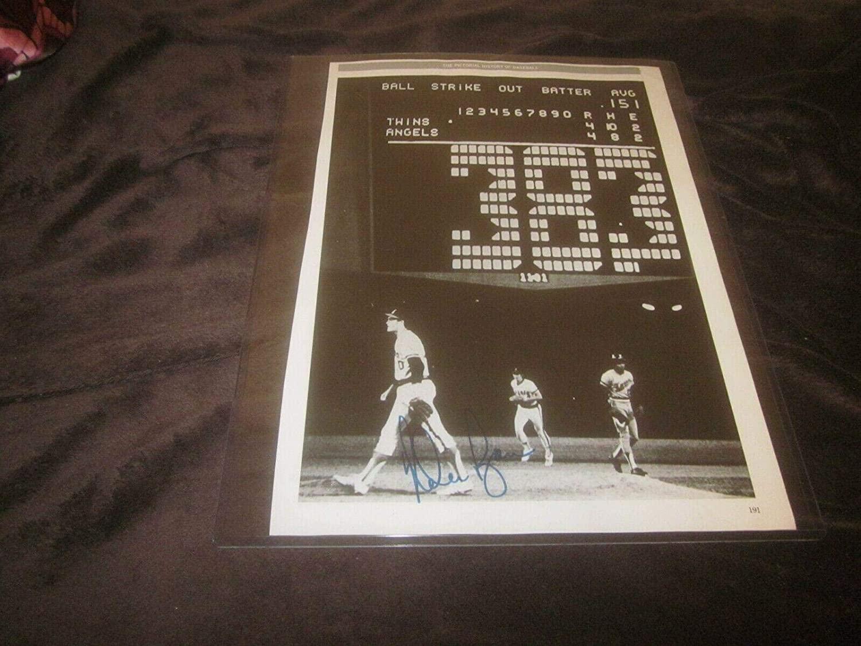 Magazine Page 10 X 14 Autographed by Nolan Ryan & Hank Aaron Hologram - Autographed MLB Magazines
