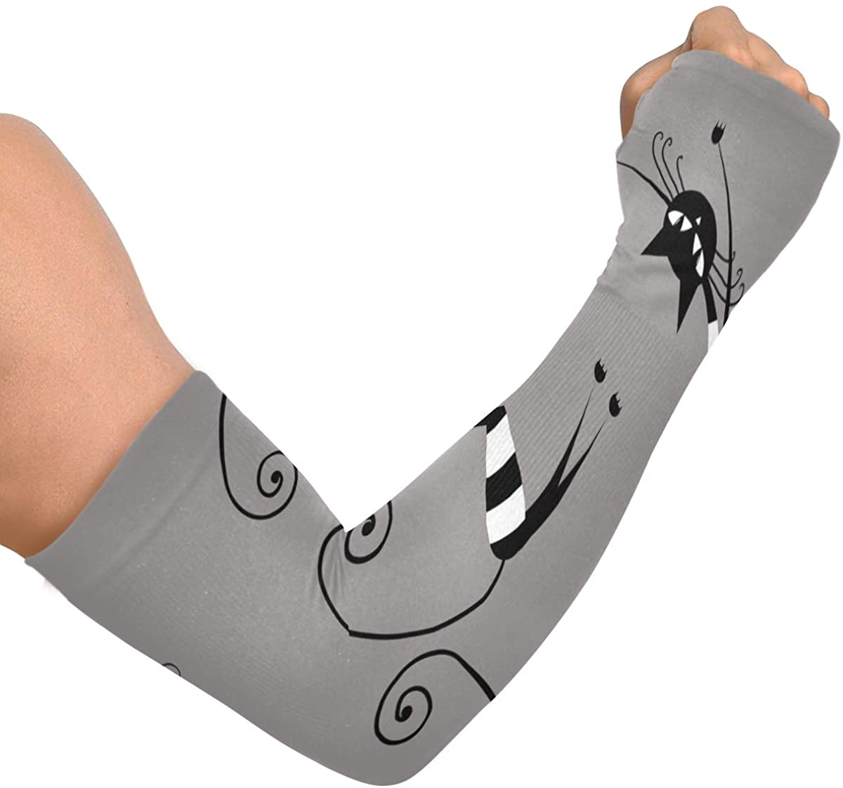 Cooling Arm Sleeves Anti-Slip Amusing Cat Unisex Arm Sleeves for Bike Hiking Golf Cycle Drive Outside Activities