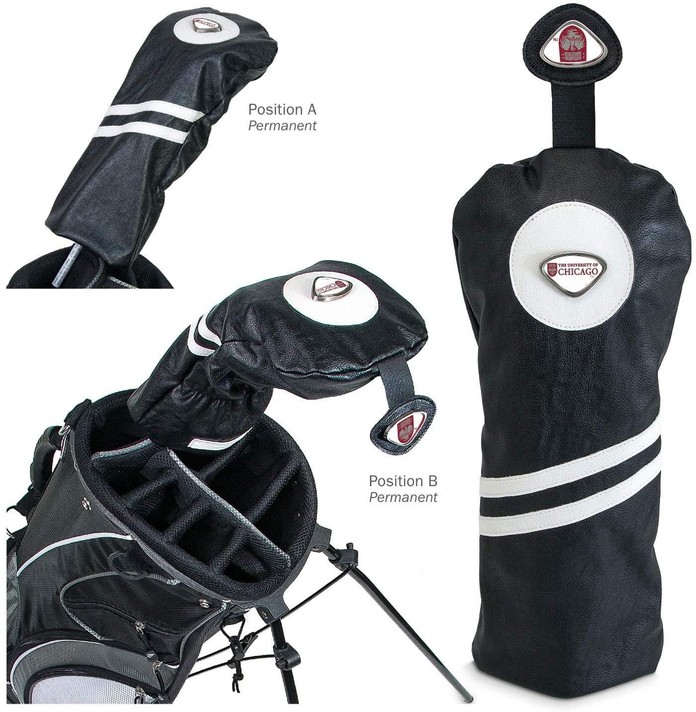 AdSpec NCAA University of Chicago Collegiate Driver HeadcoverCollegiate Driver Headcover, Black, One Size
