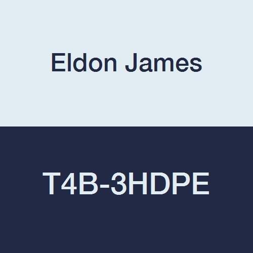 Eldon James T4B-3HDPE High Density Polyethylene British Threaded Tee, 1/4-19 BSP to 3/16