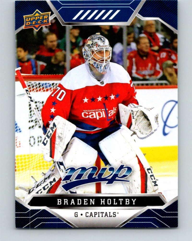 2019-20 Upper Deck MVP Blue #89 Braden Holtby mint Hockey NHL Capitals