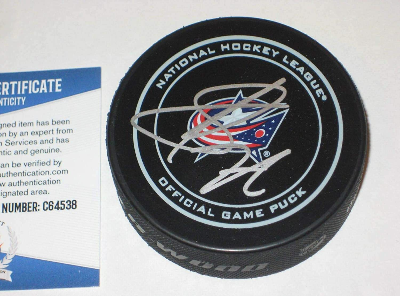 Sergei Bobrovsky Signed Hockey Puck - Official w Beckett COA - Beckett Authentication - Autographed NHL Pucks