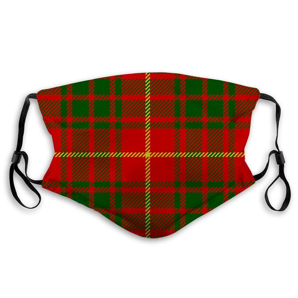 ComfortablePrintedmask, Clan Bruce Scottish Tartan Plaid Seamless,WindproofFacialdecorationsformanandwoman