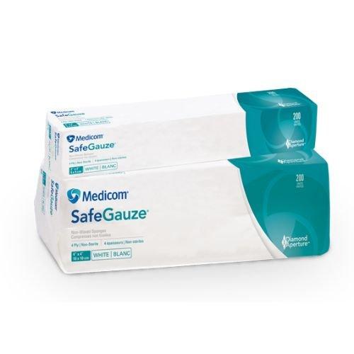 Medicom 4544 SafeGauze Sponges, Non-Woven, 4-Ply, 4