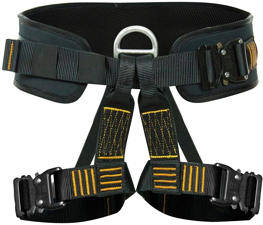 Fusion Climb Apollo III Military Tactical Padded Half Body Adjustable Zipline Harness 23kN L/XL Black