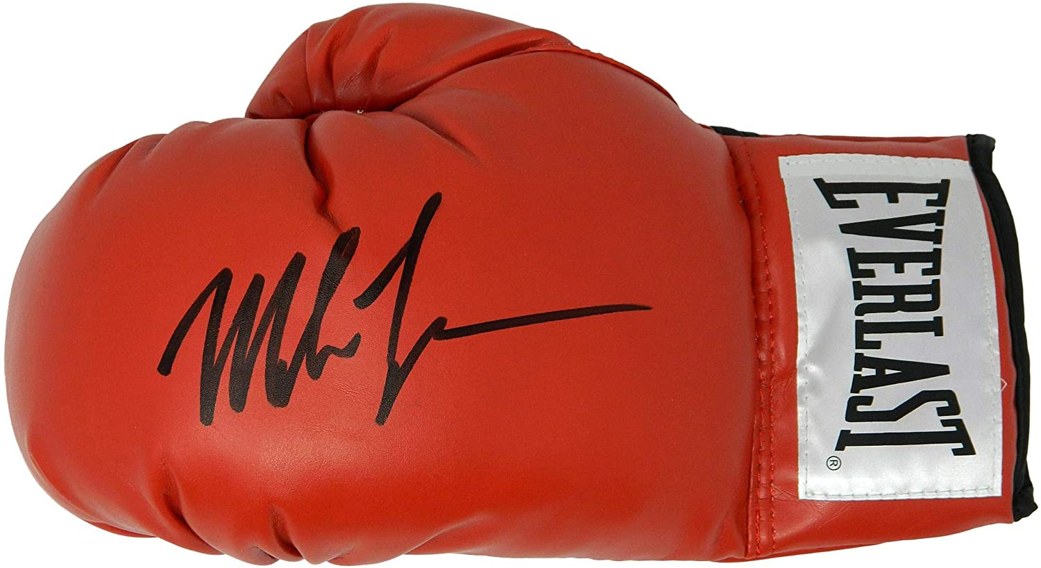 Mike Tyson Signed Everlast Red Full Size Boxing Glove - Autographed Boxing Gloves