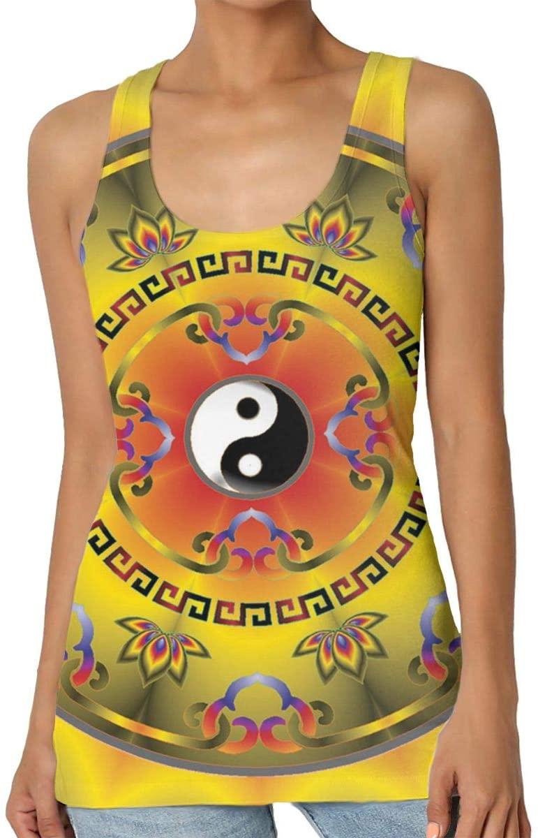 Yongchuang Feng Yin Yang Tai Chi Symbol Women's Tank Top T-Shirt Fashion Sleeveless Vest