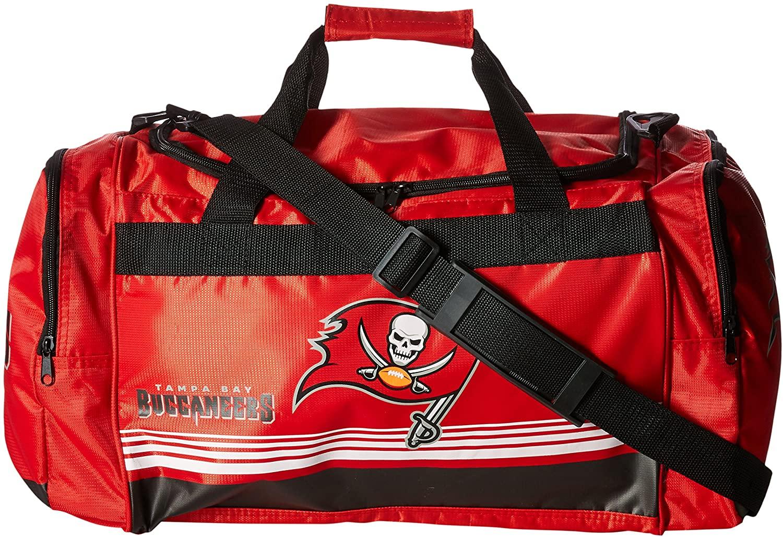 FOCO NFL Unisex Medium Striped Core Duffle Bag