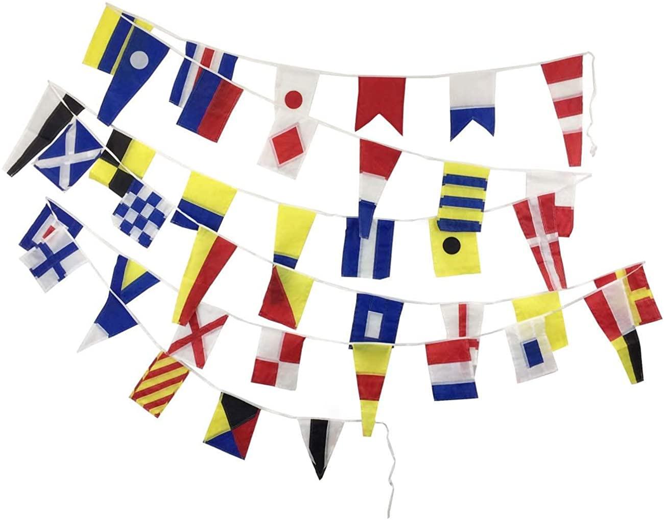 Brass Blessing International Maritime Bunting Signal Flags - Marine/Boat/Yacht/Beach Party Nautical Decor: