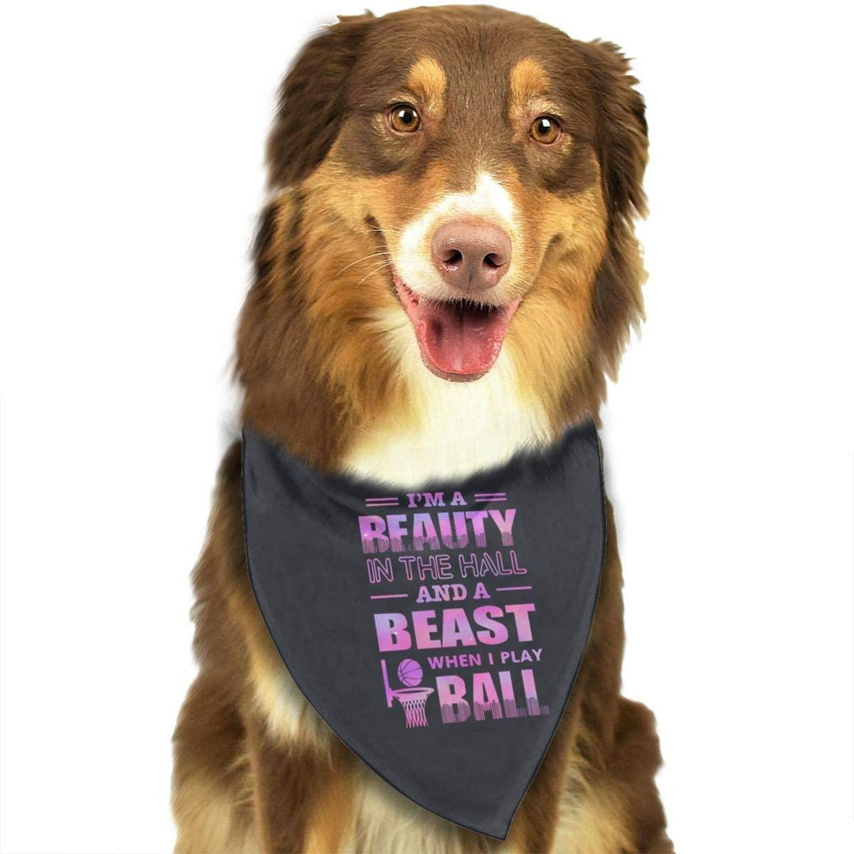CHAN03 Dogs Bandana Collars Basketball Girls Beauty Pets Triangle Neckerchief Puppy Bibs Scarfs Cats Scarfs Towel