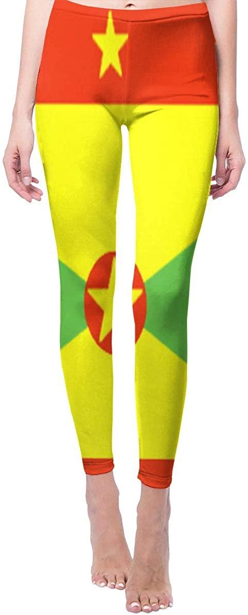 Ruin Yoga Pants Grenada Flag High Waist Skinny Leggings Sweatpants