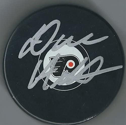 Autographed DAVE HAKSTOL Philadelphia Flyers Hockey Puck - Autographed NHL Pucks