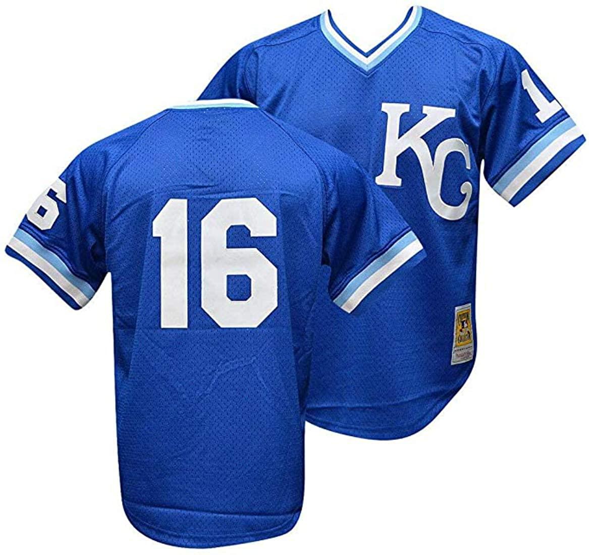 Bo Jackson #16 Kansas City Royals Men's 1989 Mesh Batting Practice Jersey Size X-Large XL Blue