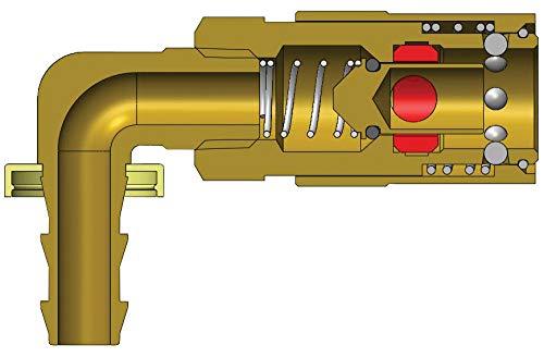 Dixon 2CM9B2-B 1/4 Mold Cplr, 1/4 P-Loc 90 Valve Brass (200209-2)