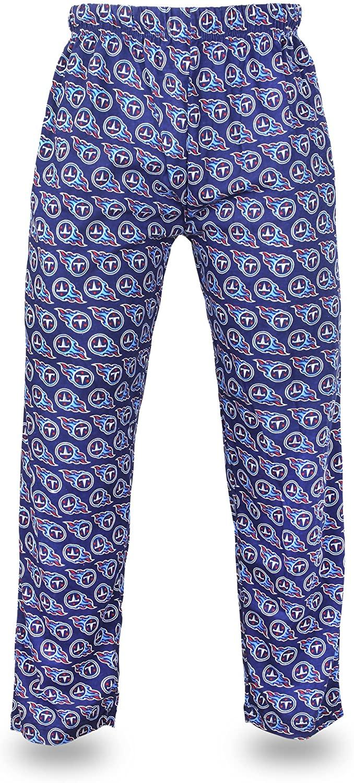 Zubaz NFL Tennessee Titans Men's Team Logo Print Comfy Jersey Pants, XX-Large, Navy