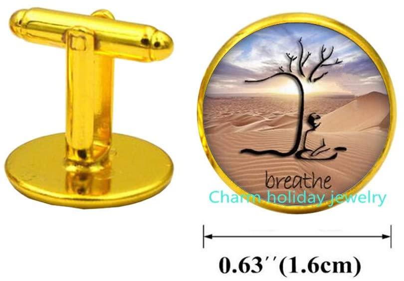Mindfulness Meditation Cufflinks Teacher Gift Tree of Life Cufflinks Tree Cufflinks Cufflinks Buddhism Cufflinks Buddhist Jewelry-#310