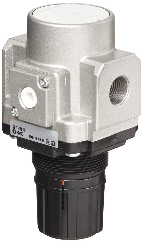 SMC AR40-F04 Regulator, Relieving Type, 7.25 - 123 psi Set Pressure Range, 106 scfm, No Gauge, 1/2