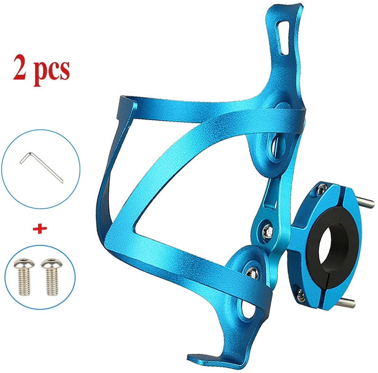 LOOZY Bicycle Water Bottle Cage Strong And Lightweight With Screws Hex Keys Quick And Easy To Mount Water Bottle Brackets Lightweight Aluminum Alloy For Outdoor Activities,mtb Stroller Motorcycles