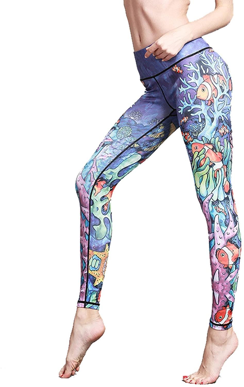 MTSCE Yoga Pants Yoga Capris Printed Workout Leggings