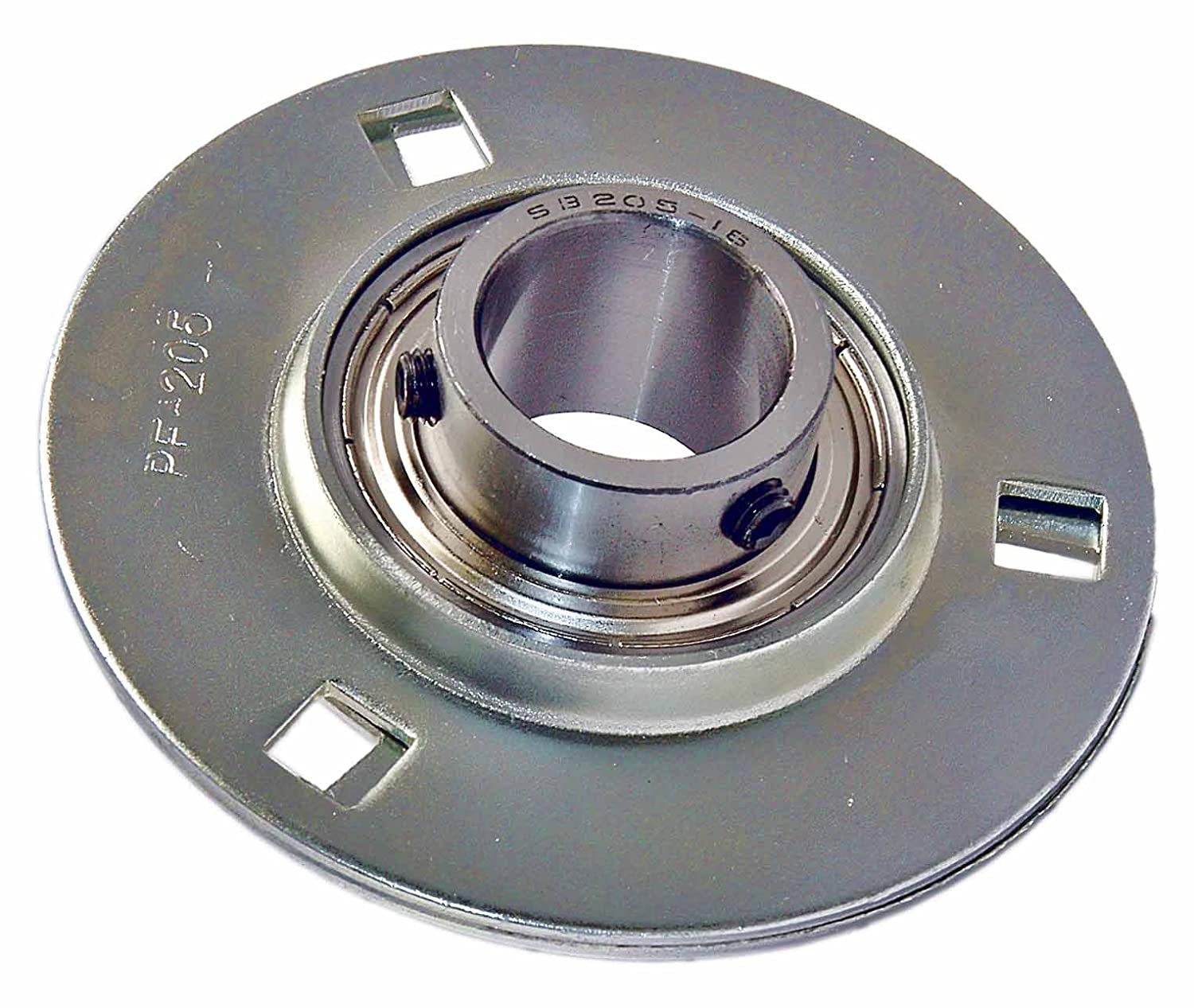 SBPF205-16 Pressed Steel Housing Bearing Unit 3-Bolt Flanges Mounted