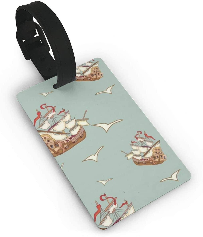 Field Rain Sailboat Fashion Luggage Tag PVC Travel ID Suitcases Label For Bag