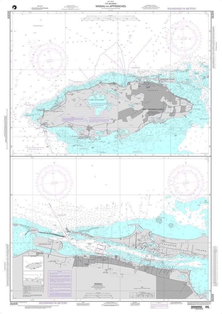 NGA Chart 26309: Nassau and Approaches