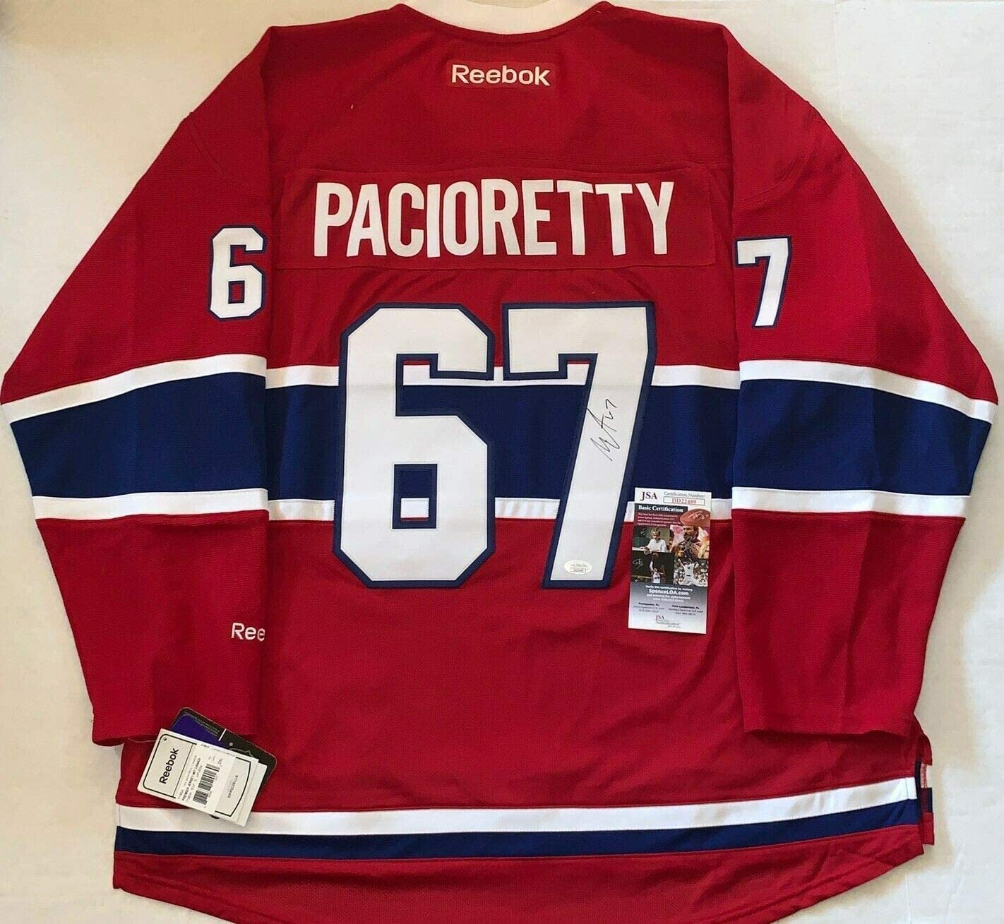 Authentic Autographed Max Pacioretty Montreal Canadiens Reebok Premier Jersey Habs JSA