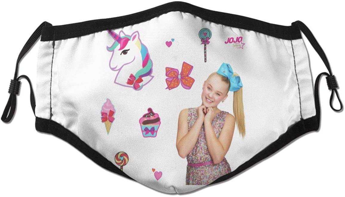 N/D JoJo Siwa Dust Reusable Washable Filter and Reusable Mouth Windproof Warm Cotton Face
