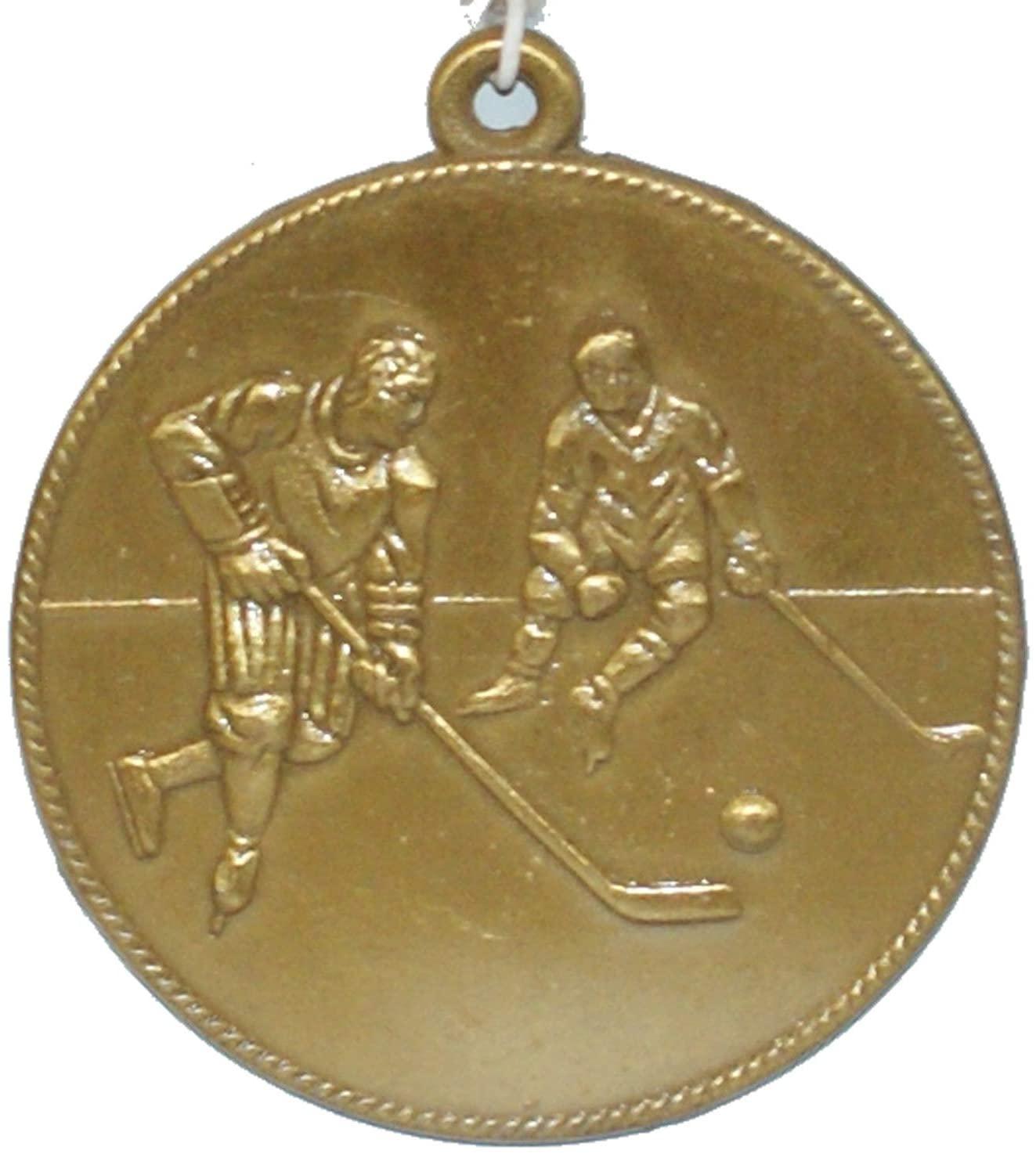 Phoenix's Treasure Trove Engravable Gold Color Hockey Medal
