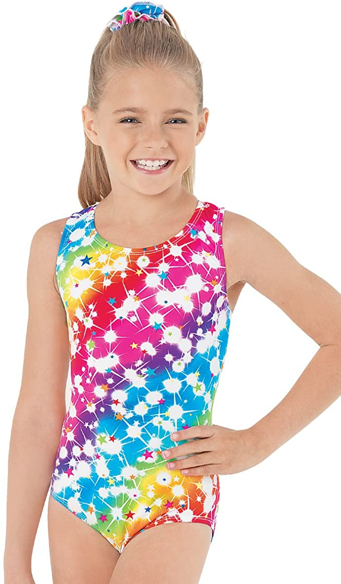 Balera Gymnastics Leotard Rainbow Star Print