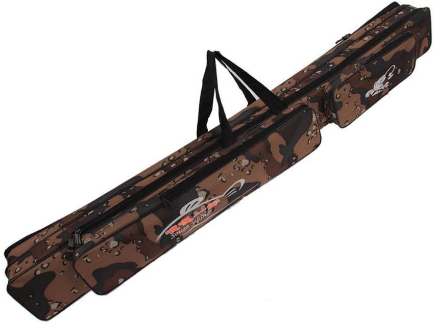 Sougayilang Folding Fishing Rod Case Organizer Pole Storage Bag Rod Reel Tackle Carrier Fishing Rod Bag Fishing Case