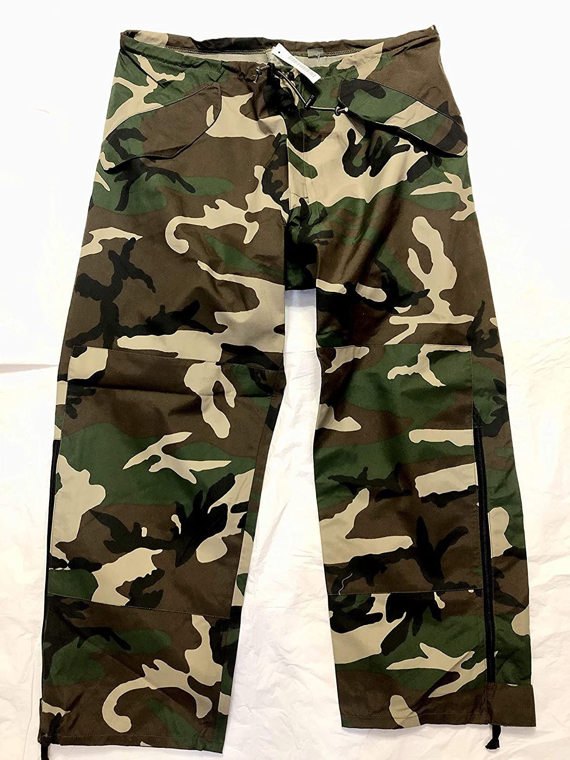 Us Army Issue Ecwcs Gore Tex Woodland Camouflage Cold Weather Pants - Large Regular.