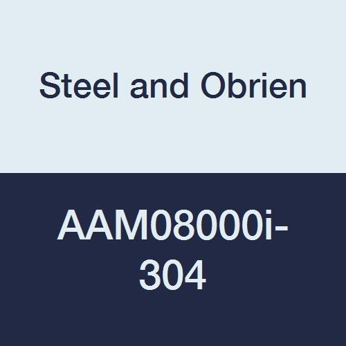 Steel and Obrien AAM08000i-304 Stainless Steel L14AM7 Butt Welding Ferrule, 8