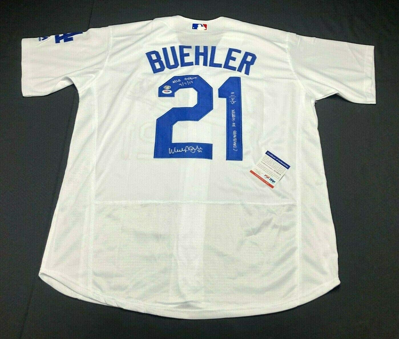 Walker Buehler Signed Dodgers Jersey