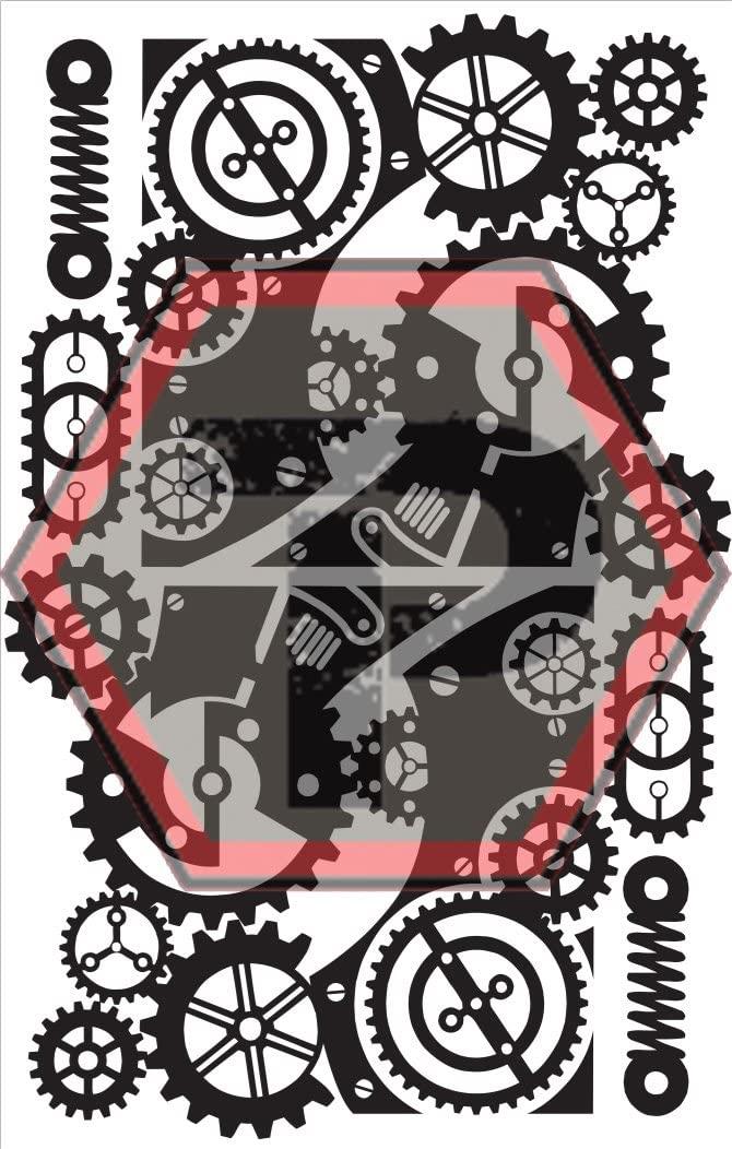 Tactical Penguin Steampunk 4 Stencil for cerakote, gunkote, duracoat Avery Paint mask Sticky Back Vinyl