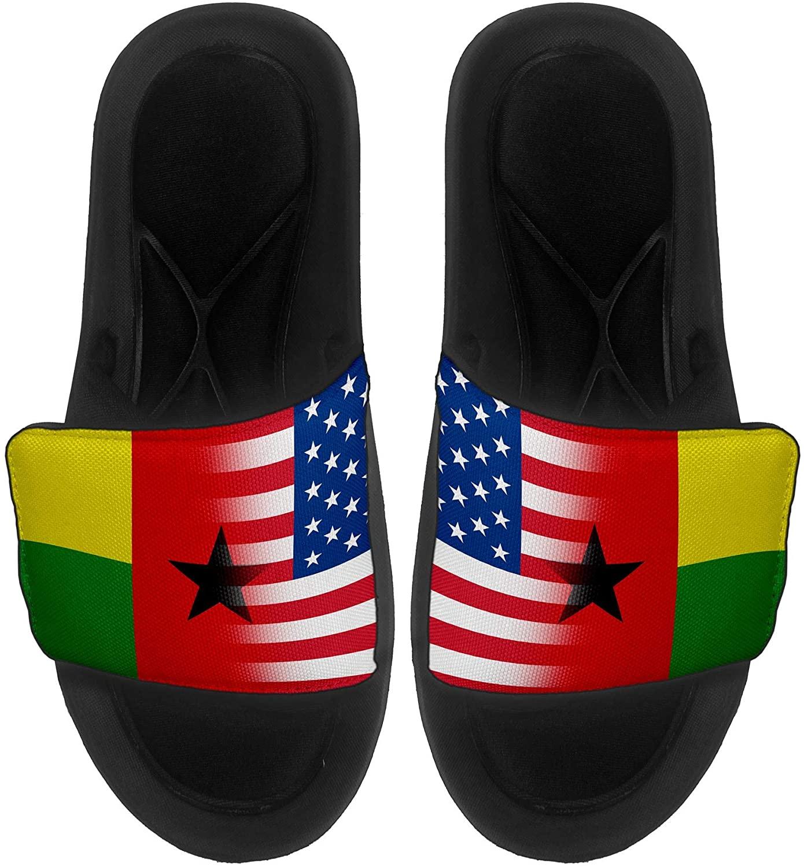ExpressItBest Cushioned Slide-On Sandals/Slides for Men, Women and Youth - Flag of Guinea-Bissau - Guinea-Bissau Flag