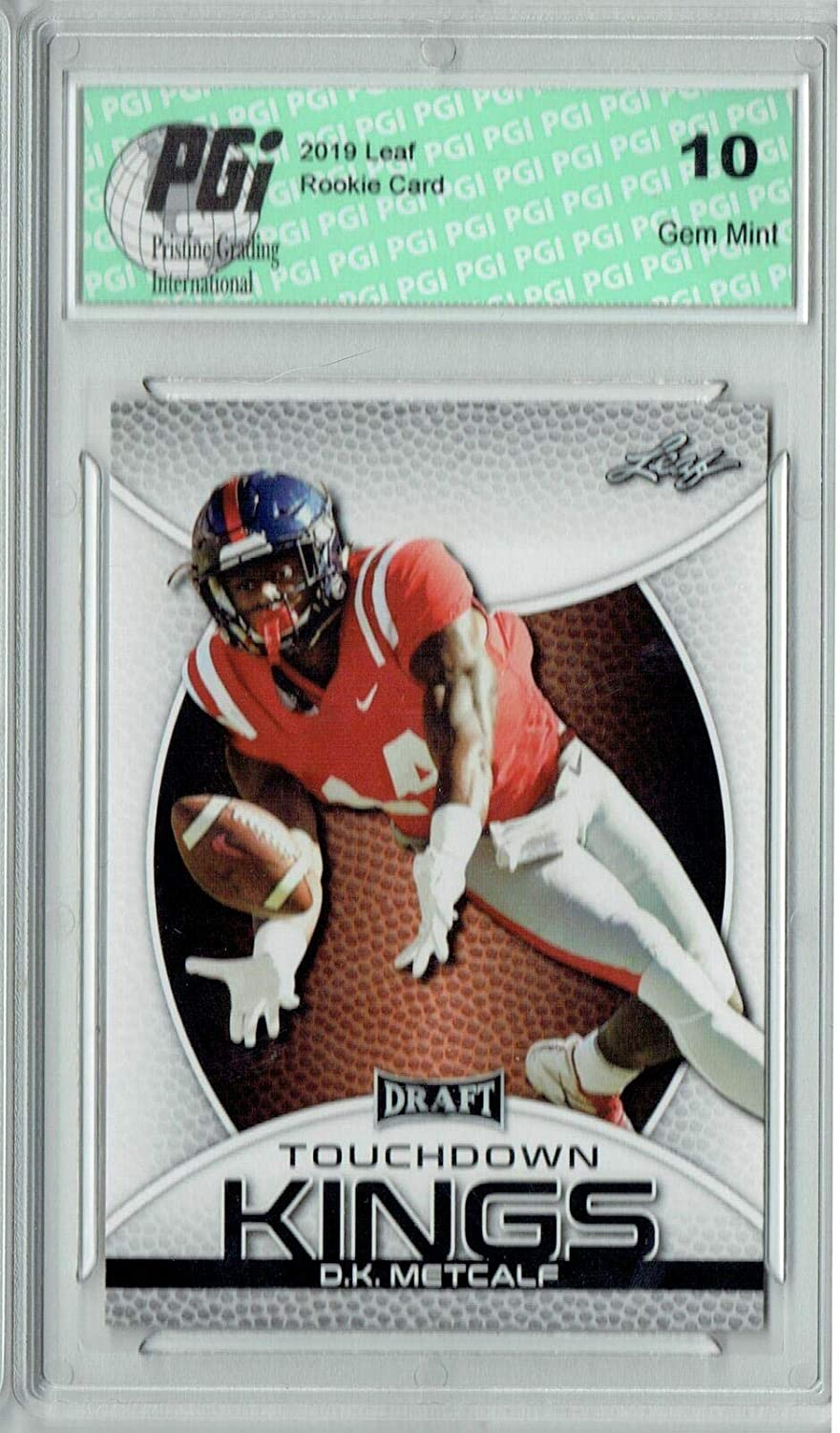 D.K. Metcalf 2019 Leaf Draft #86 Touchdown Kings Rookie Card PGI 10 - Unsigned College Cards