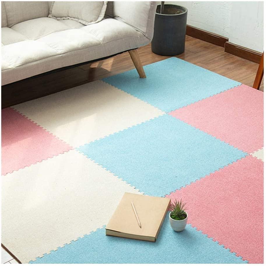 GYYARSX Foam Puzzle Mats Interlocking Tiles Gym Equipment Workouts Exercise Household Living Room Bedroom, 8 Colors, 4 Sizes (Color : A, Size : 30X30X0.6CM-9PCS)