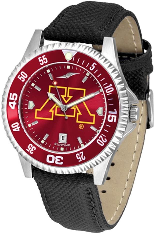 Minnesota Golden Gophers Competitor AnoChrome Men's Watch - Color Bezel