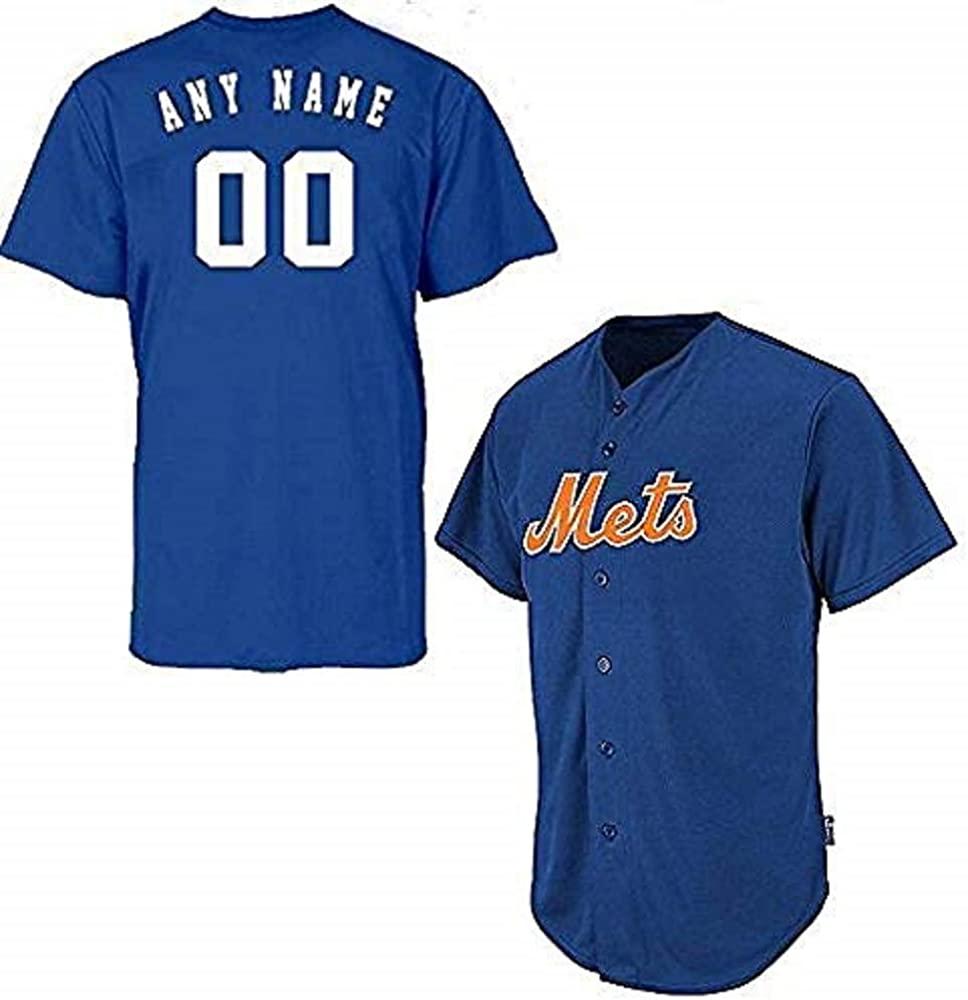 Adult XL New York Mets Customized Major League Baseball Cool-Base Replica MLB Jersey Royal Blue