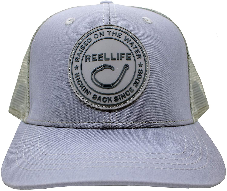 Reel Life Watercolor Snap Back Fishing Hat - Adjustable Size   Mesh Back