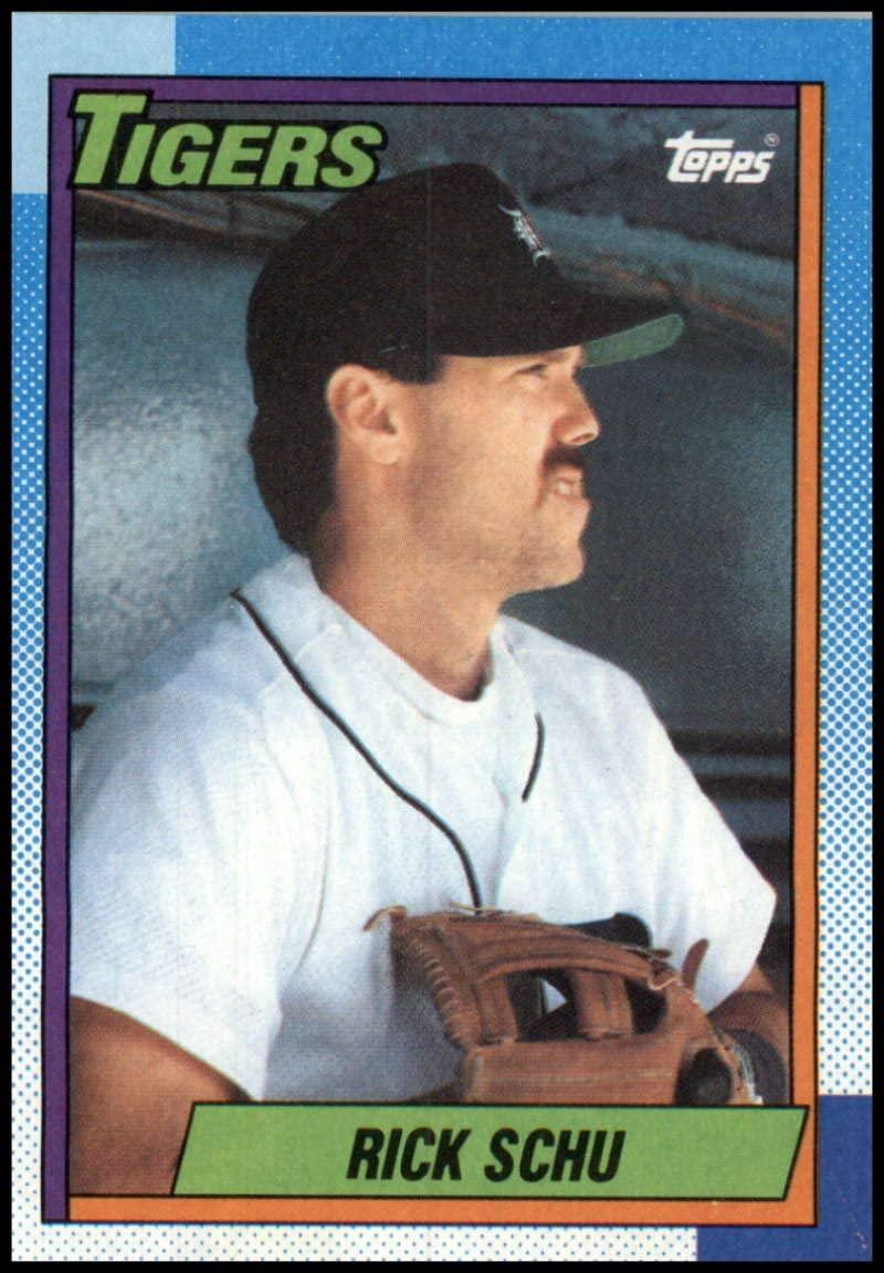 1990 Topps #498 Rick Schu Detroit Tigers Baseball MLB