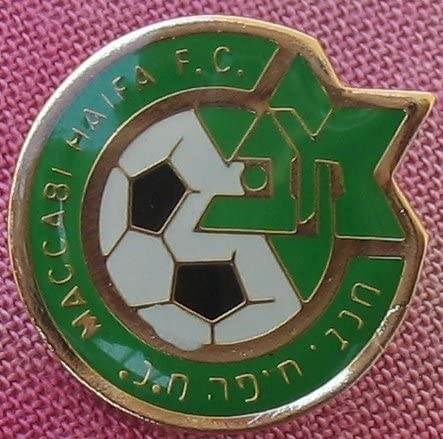 Maccabi Haifa FC football/soccer pin Israel fan club Israeli & champions league