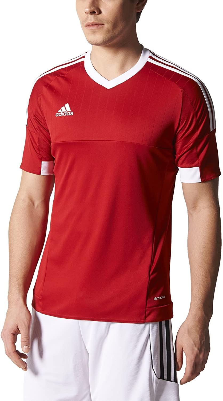 adidas Mens Tiro 15 Soccer Jersey (Red)